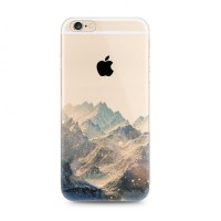 iPhone 6s 6 Plus SE 5s 5 Soft Clear Case (Snow Mountain ...