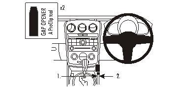 Brodit ProClip 633937, Mittelkonsole für Mazda CX-7 (Bj