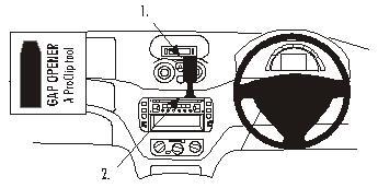 Brodit ProClip 653044, Armaturenbrett, Mitte für Citroen