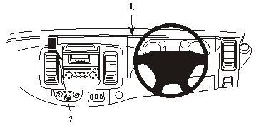 Brodit ProClip 653199, abgewinkelte Befestigung für Nissan