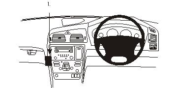 Brodit ProClip 653496, abgewinkelte Befestigung für Volvo