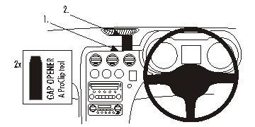 Brodit ProClip 653743, Armaturenbrett, Mitte für Alfa