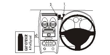 Brodit ProClip 653965, Armaturenbrett, Mitte für Nissan