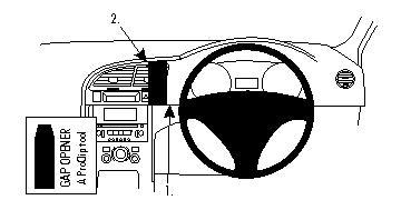 Brodit ProClip 654344, Armaturenbrett, Mitte für Peugeot