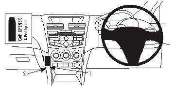 Brodit ProClip 654865, abgewinkelte Befestigung für Mazda