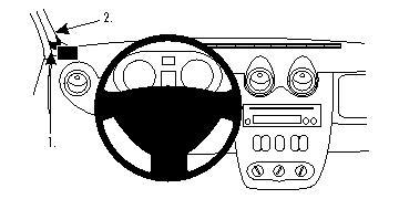 Brodit ProClip 804400, links für Dacia Duster,Logan