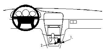 Brodit ProClip 832284, Mittelkonsole für Volvo V40,S40 (Bj