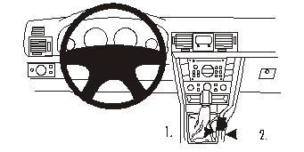 Brodit ProClip 833079, Mittelkonsole für Opel Vectra C