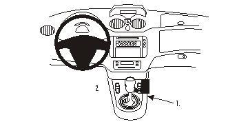 Brodit ProClip 833672, Mittelkonsole für Citroen C2,C3