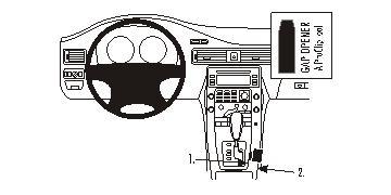 Brodit ProClip 833871, Mittelkonsole für Volvo V70 II,S80