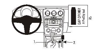 Brodit ProClip 833938, Mittelkonsole für Mazda CX-7 (Bj