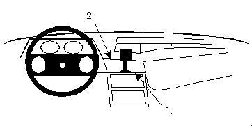 Brodit ProClip 851522, Armaturenbrett, Mitte für Opel