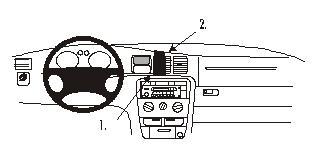 Brodit ProClip 852226, Armaturenbrett, Mitte für Opel