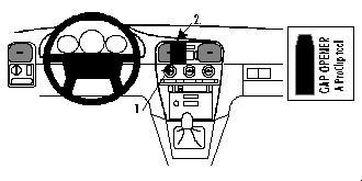 Brodit ProClip 852283, Armaturenbrett, Mitte für Volvo V40