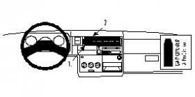 Brodit KFZ Halter mit Ladekabel 512466 für Samsung Galaxy
