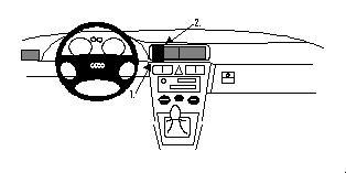 Brodit ProClip 852333, Armaturenbrett, Mitte für Audi A3