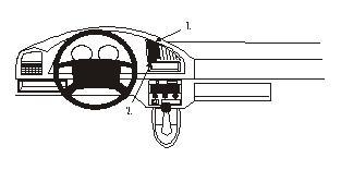Brodit ProClip 852335, Armaturenbrett, Mitte für Citroen