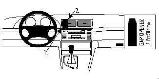 Brodit ProClip 852599, Armaturenbrett, Mitte für BMW 316