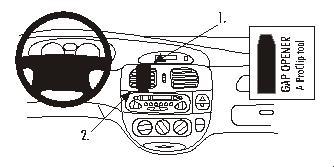 Brodit ProClip 852719, Armaturenbrett, Mitte für Renault