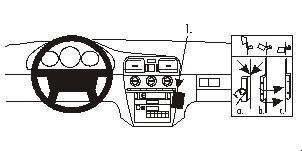 Brodit ProClip 852793, abgewinkelte Befestigung für Volvo