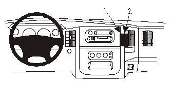Brodit ProClip 852972, abgewinkelte Befestigung für Dodge