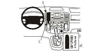 Brodit ProClip 853022, Armaturenbrett, Mitte für Toyota