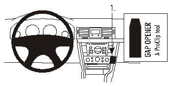 Brodit ProClip 853077, abgewinkelte Befestigung für Opel