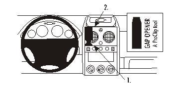 Brodit ProClip 853143, Armaturenbrett, Mitte für Citroen
