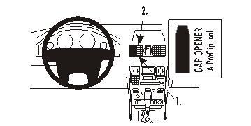 Brodit ProClip 853171, Armaturenbrett, Mitte für Volvo