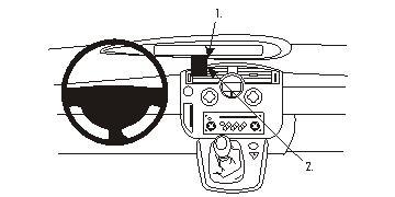 Brodit ProClip 853351, Armaturenbrett, Mitte für Renault