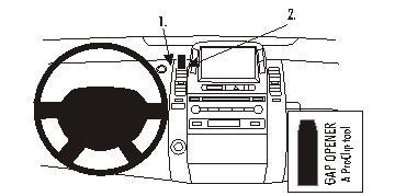 Brodit ProClip 853437, Armaturenbrett, Mitte für Toyota