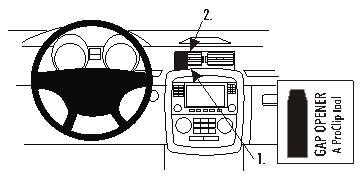 Brodit ProClip 853680, Armaturenbrett, Mitte für Mercedes