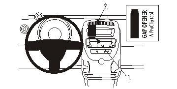 Brodit ProClip 853716, Armaturenbrett, Mitte für Citroen