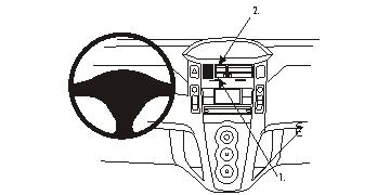 Brodit ProClip 853741, Armaturenbrett, Mitte für Toyota