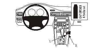 Brodit ProClip 853870, abgewinkelte Befestigung für Volvo