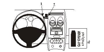 Brodit ProClip 853965, Armaturenbrett, Mitte für Nissan