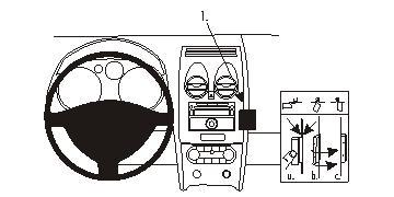 Brodit ProClip 853966, abgewinkelte Befestigung für Nissan