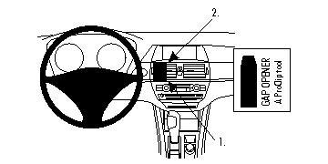 Brodit ProClip 854007, Armaturenbrett, Mitte für BMW X5,X6