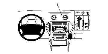 Brodit ProClip 854056, abgewinkelte Befestigung für Ford