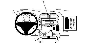 Brodit ProClip 854075, abgewinkelte Befestigung für Fiat