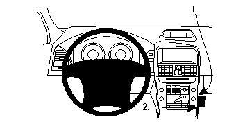 Brodit ProClip 854296, abgewinkelte Befestigung für Volvo