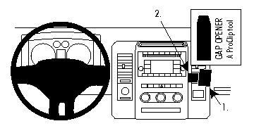 Brodit ProClip 854302, abgewinkelte Befestigung für Dodge