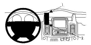 Brodit ProClip 854517, Armaturenbrett, Mitte für Nissan
