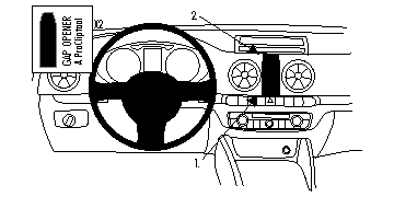 Brodit ProClip 854804, Armaturenbrett, Mitte für Audi A3
