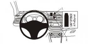 Brodit ProClip 853714, Armaturenbrett, Mitte für Seat Leon