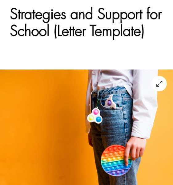 Strategies and support for school (letter template)