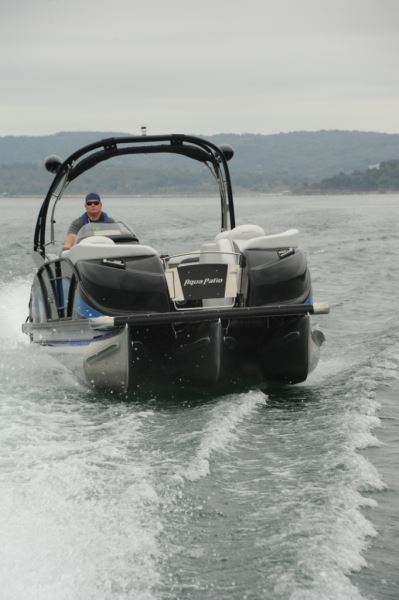 Aqua Patio 250 Express  Pontoon  Deck Boat Magazine
