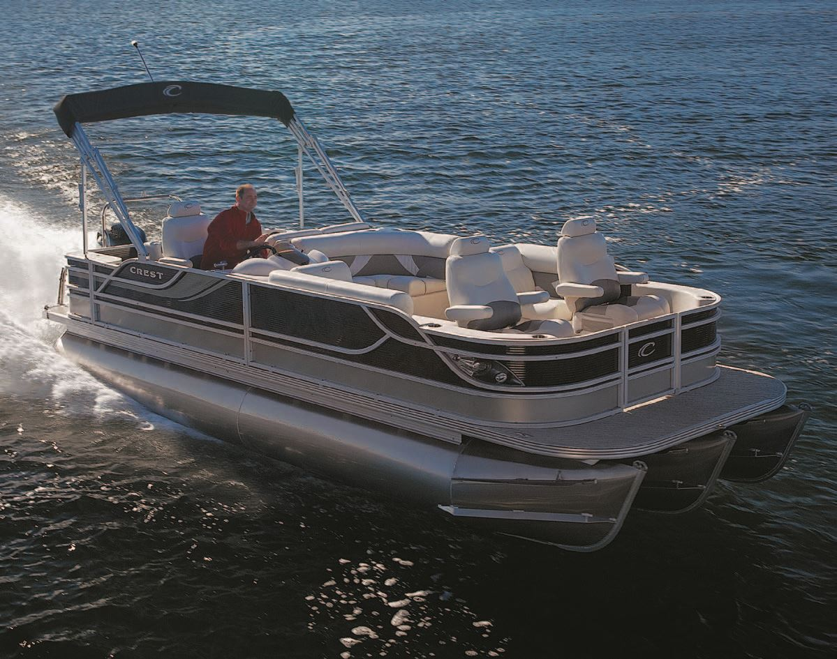 hight resolution of the plush interiors various styles and many optional appointments on each pontoon are crafted to order allowing customizing to meet their customers needs