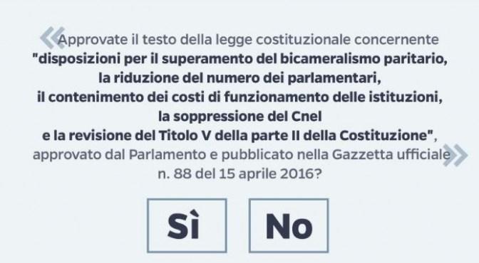 Referendum: sabato 8 ottobre a Crema confronto pubblico tra Pizzetti e Toninelli