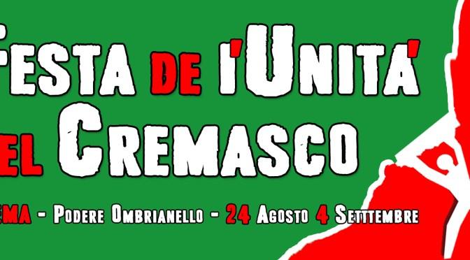 Ombrianello 2017: la Festa centrale de l'Unità del Cremasco dal 24 agosto al 4 settembre